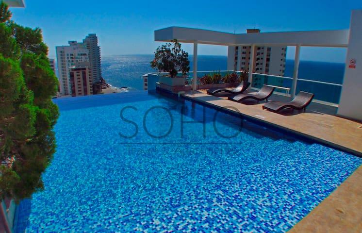Apartamentos SOHO Style - Cerca al Mar SMR208A★★★★