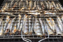 Finnish herrings from the grill