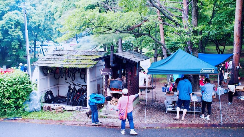 Camp near beautiful lake. Nice area for Omagari