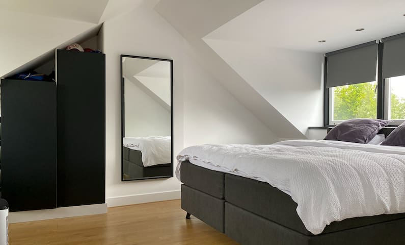 Master Bedroom with mirror and closets