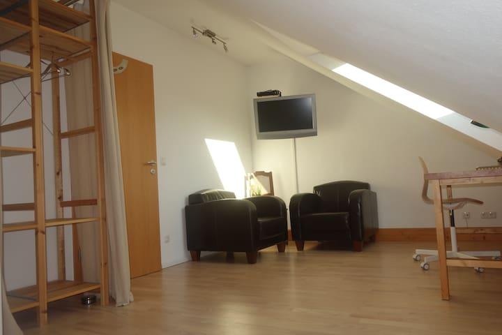 Doppelzimmer in einem Privathaus nahe Frankfurt