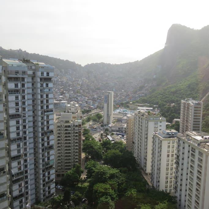 Vista para a favela da Rocinha