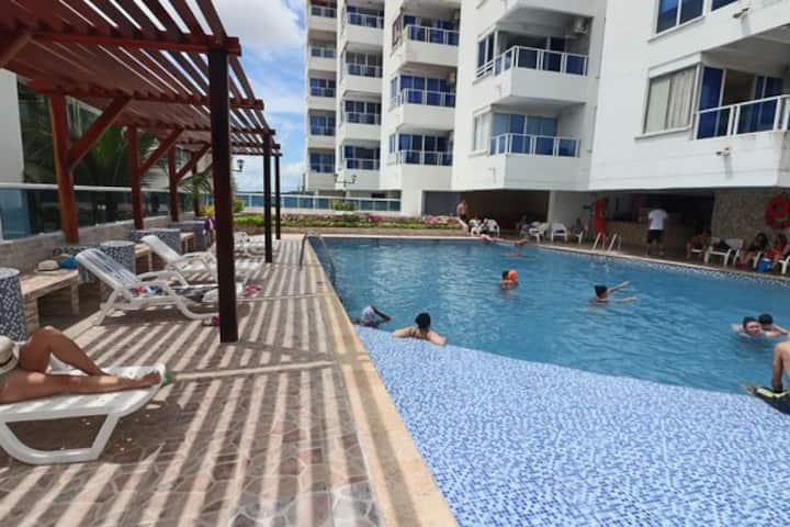 Apartamento en Cartagena Frente al Mar E11C