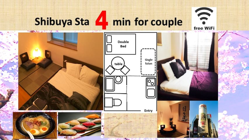 SHIBUYA COZY 4 MIN by Walk! #B04 - Shibuya - Apartamento
