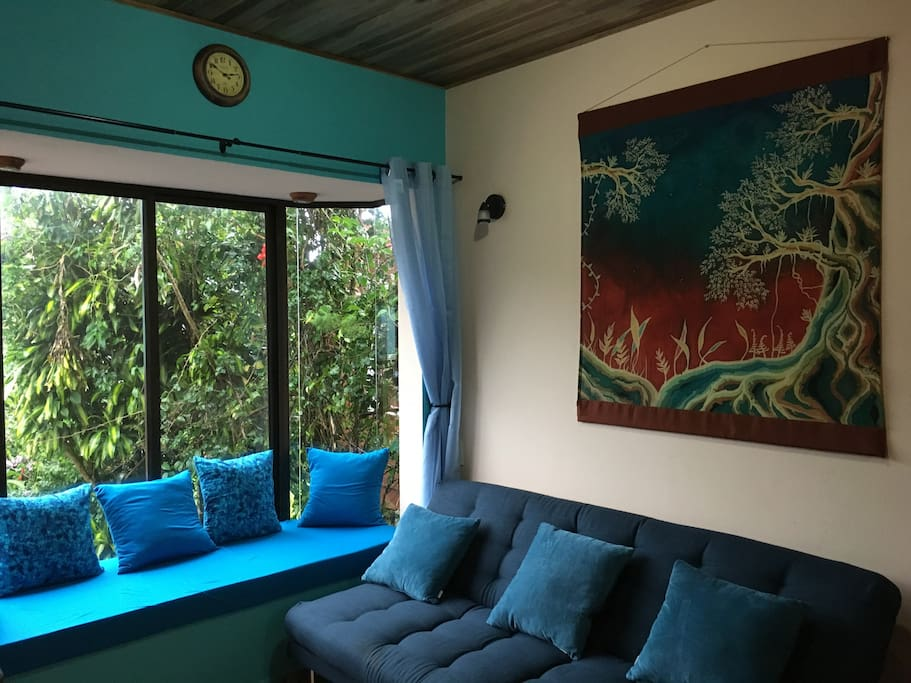 This is the sitting area of the casita.