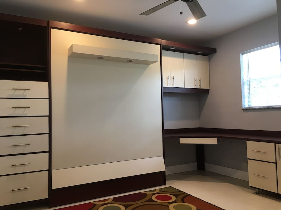 NEW Murphy Bed system w/ FOAM mattress, Chest of Drawers, Corner Desk with extension