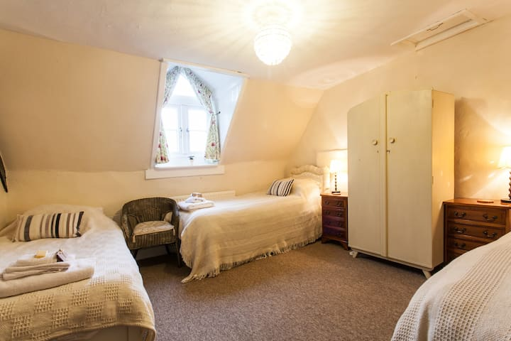 Bright and Spacious double or triple room.