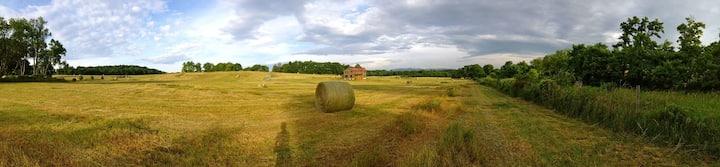 Solar-Powered Eco-Farmhouse with Mountain Views!