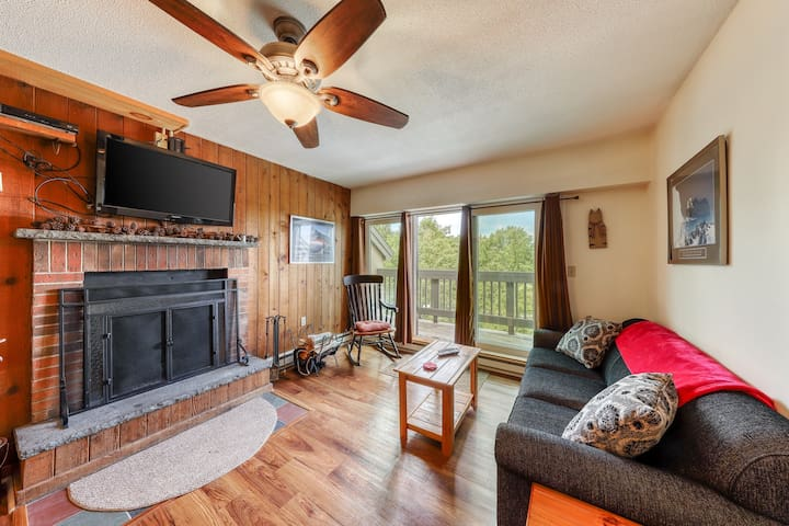 NEW LISTING! Cozy studio w/ a full kitchen, fireplace, shared pool, sauna, & gym
