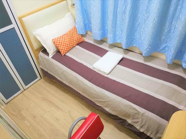 ⭐ 舒适單人房間 近地鐵 巴士 Lovely bedroom near MTR & buses⭐