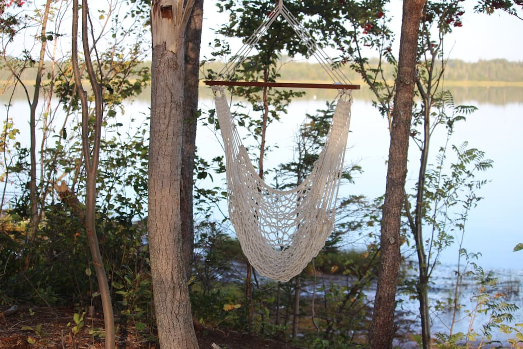 Enjoy our hammock overlooking the Vernon River