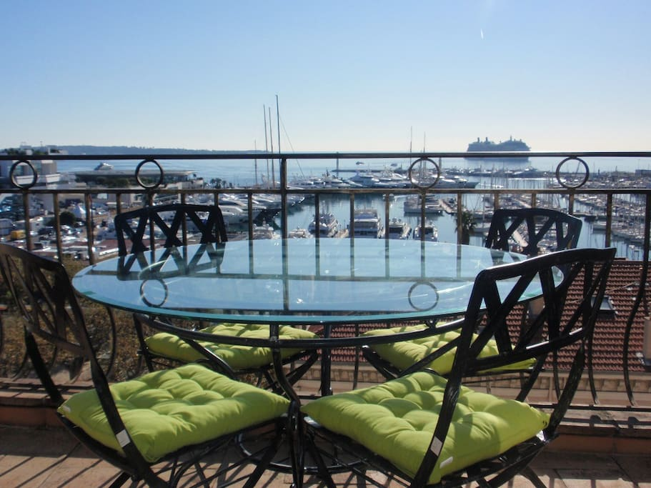 The balcony is a perfect place to relax and enjoy the sunshine or for alfresco dinning