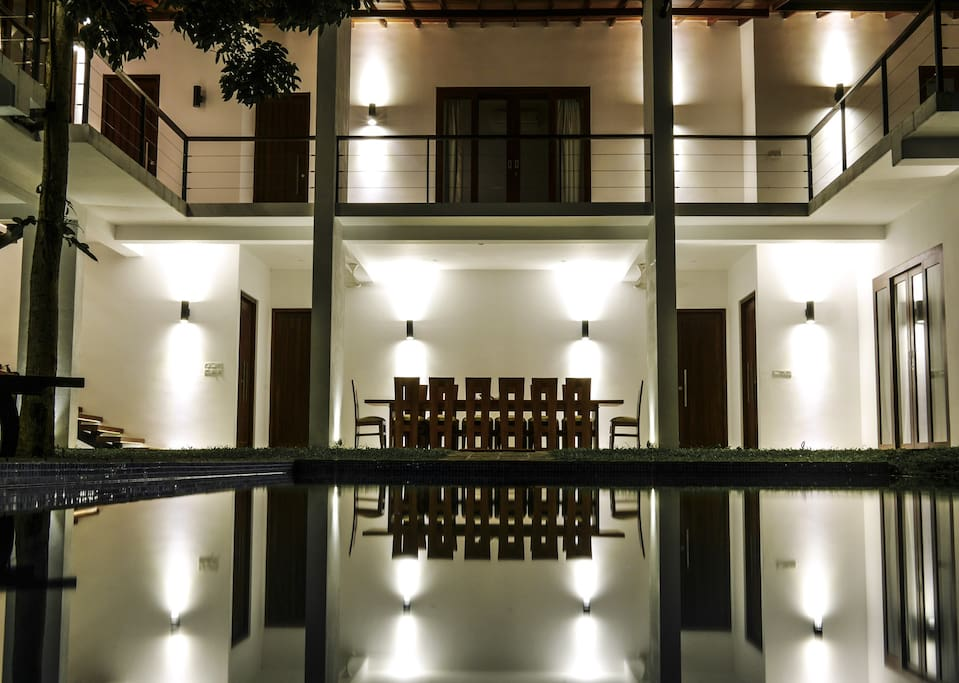 The villa have a modern design and all lights are environmentally friendly LED.