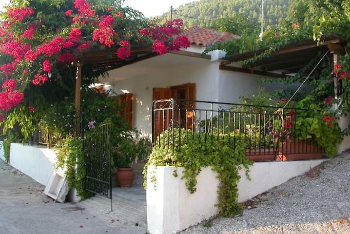 Skopelos Island Home, Steps From the Sea!