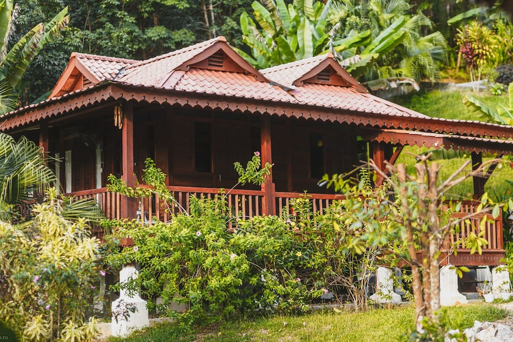 Wooden Villa @ Alamanda Villas Langkawi surrounded by garden and nature