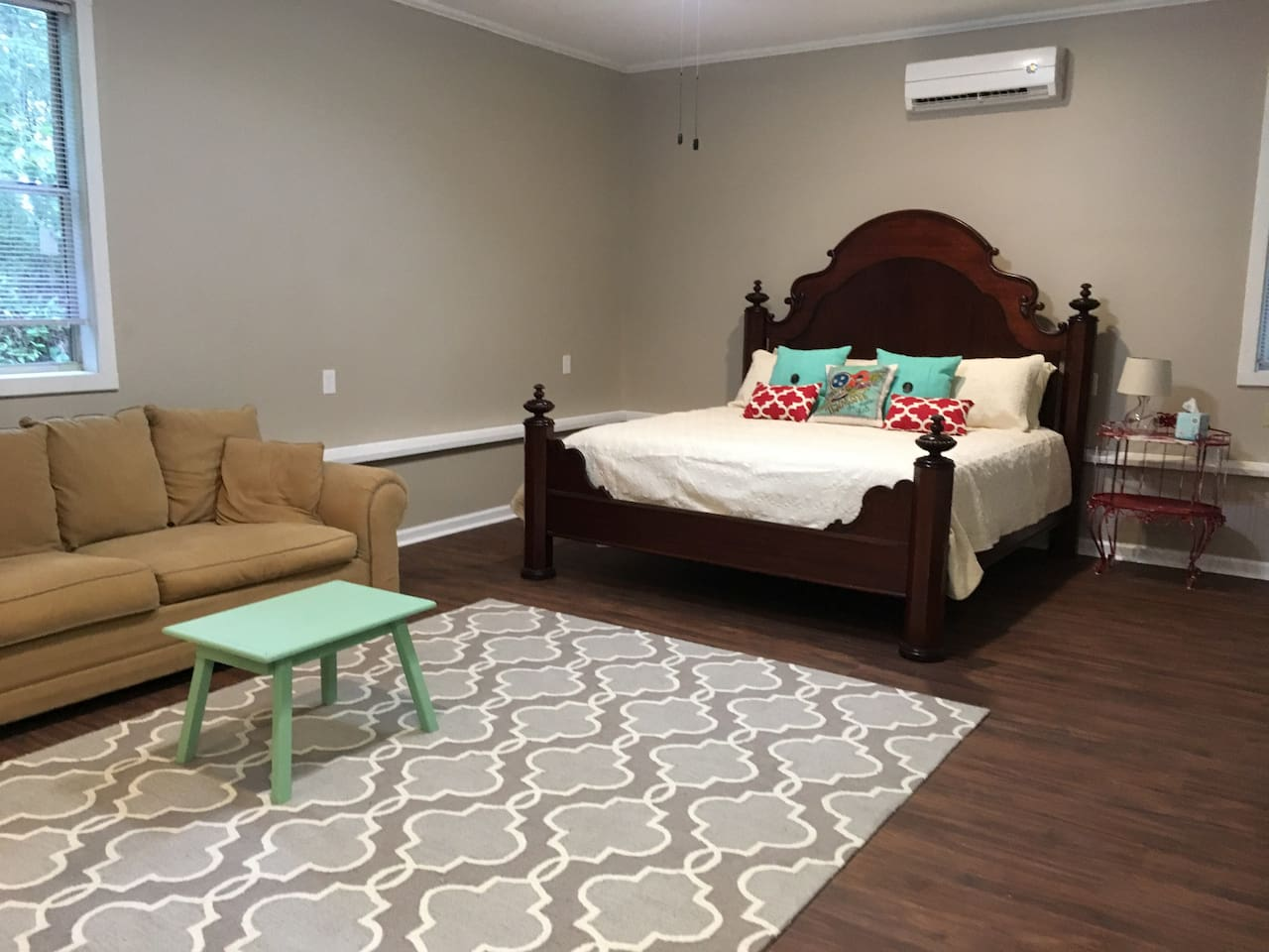Comfy king size bed with sleeper sofa