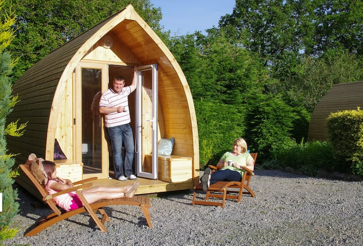 Narberth, Hideaway Pod. Pet Friendly Glamping