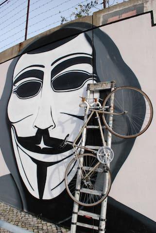 Example of Lisbon's famous street art culture