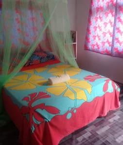 Chambre d'hôte à Maupiti, calme et authentique.