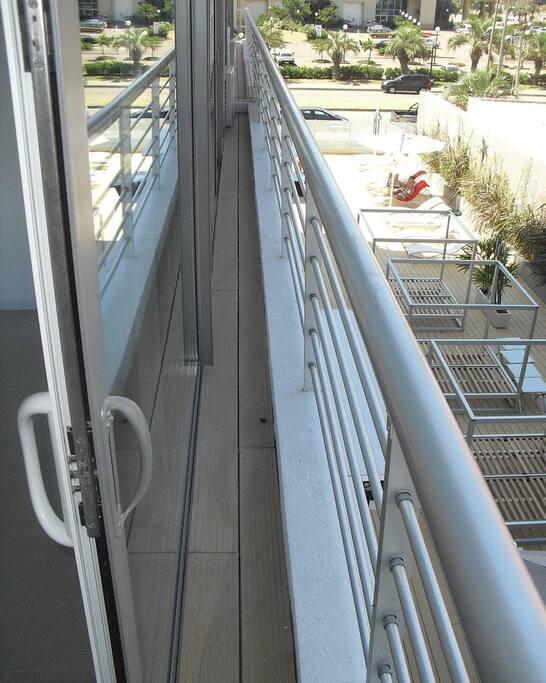 A French balcony.
