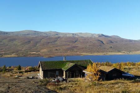 Familiehytte Midre Syndin med panoramautsikt