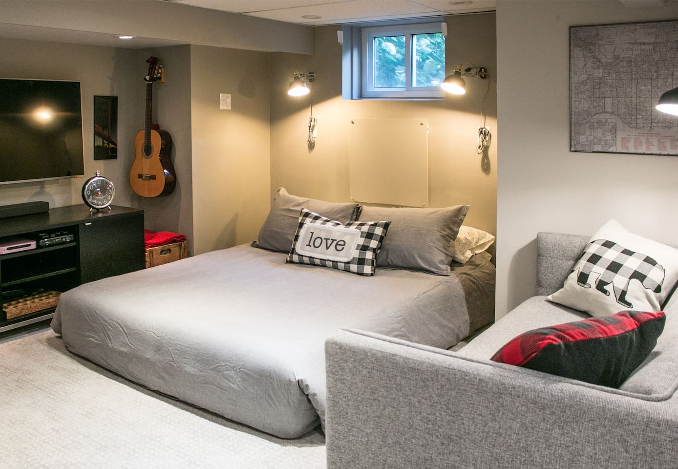 Get a great night's sleep on the comfortable sofa bed