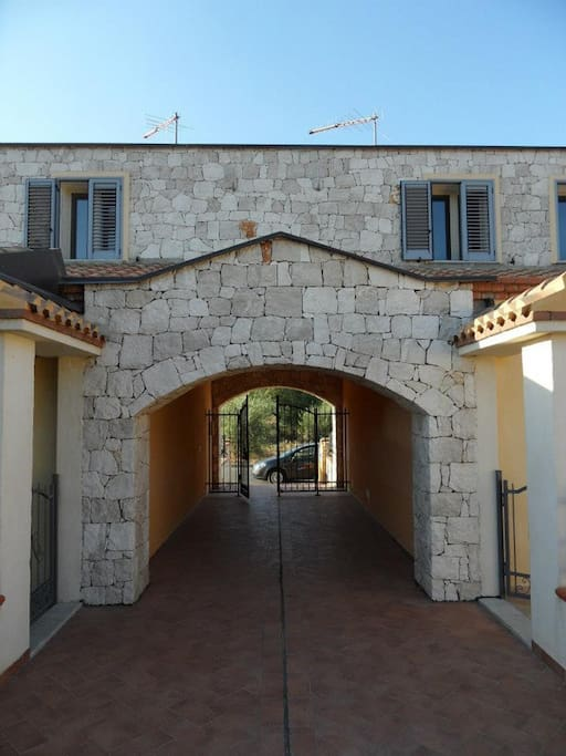 Passage Through the Stones for  apartment entrance