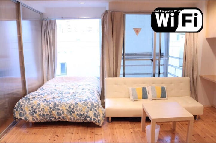2bed/Namba 5min Luyury Ap - 大阪市 - Apartament