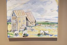 An original by Susan Unger - my favorite Saskatchewan artist. I keep this painting in my living room (shared space) for everyone to enjoy.