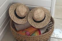 Serviettes de plage à disposition