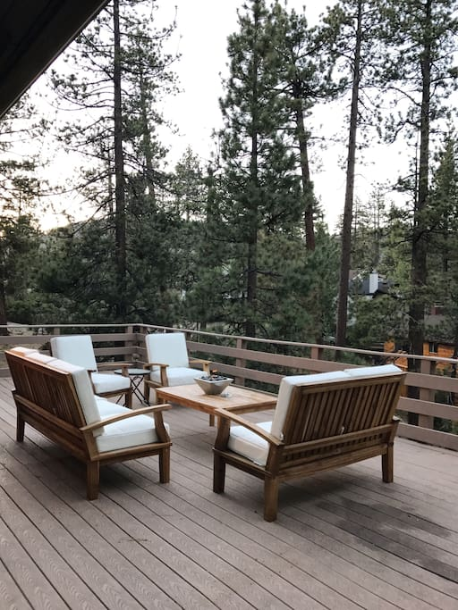 Deck & BBQ area with lake view