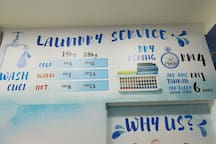 Self service Laundry charges