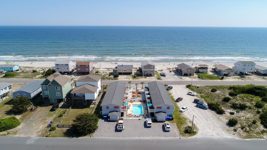 Property is located across from the 13 mile beach