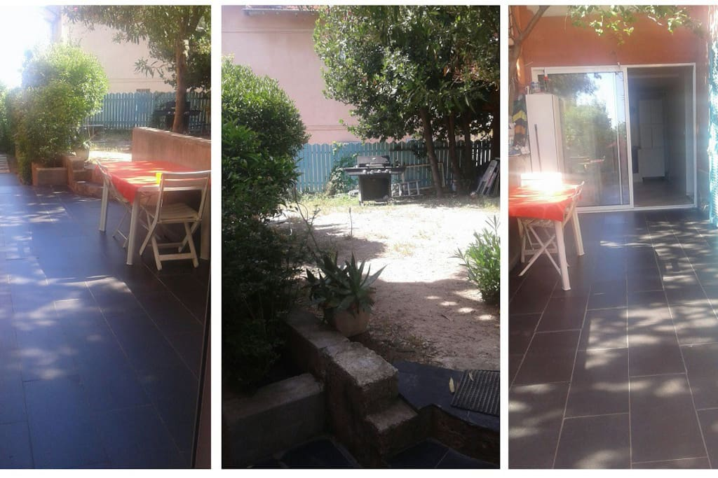 Nice flat with large bbq area outside appartements - Le barbecue nice ...
