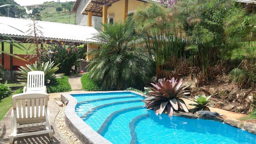 Casa com Piscina Natural Teresópolis - Paraíso - Teresópolis - Casa