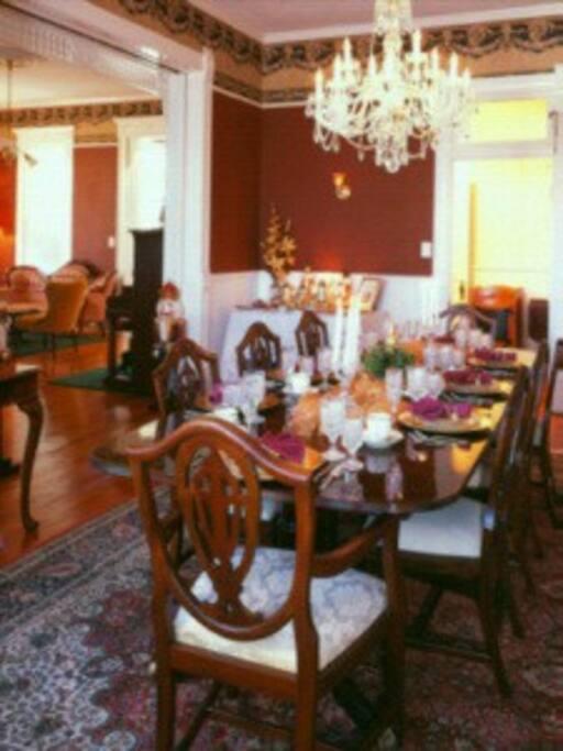 Breakfast in the Formal Dining Room