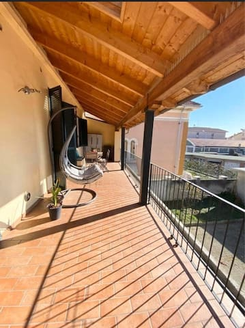 Cecilia accommodation with large terrace.