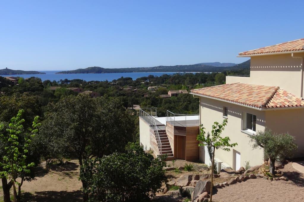 La villa et sa vue mer