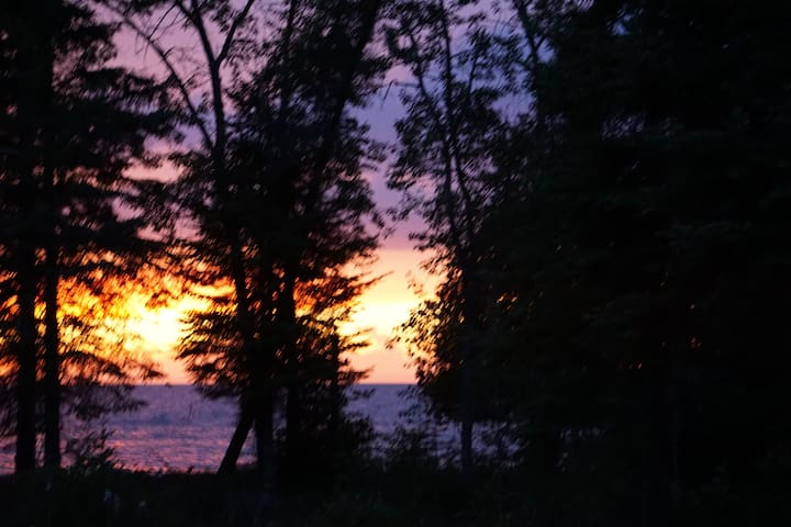 Lake Superior Shore with Sunset Views