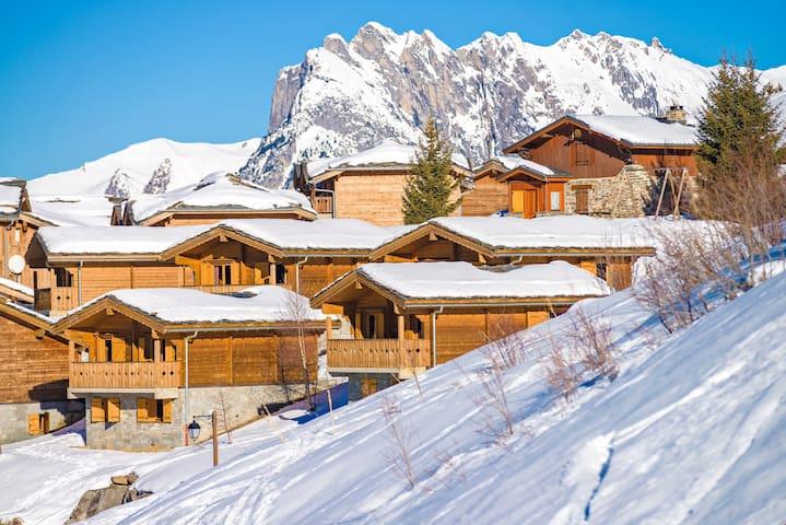 Appartement cosy et sympa à 50m des pistes, avec accès Piscine !