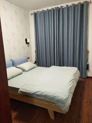 温馨蓝色卧室,满足小清新
