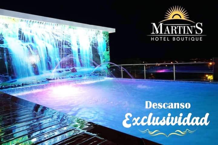 Habitación en lindo hotel Boutique Martins