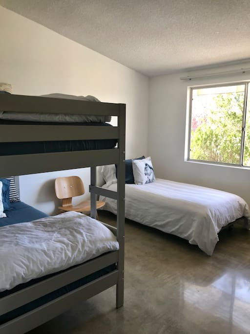 Third bedroom, with 3 comfortable twin beds