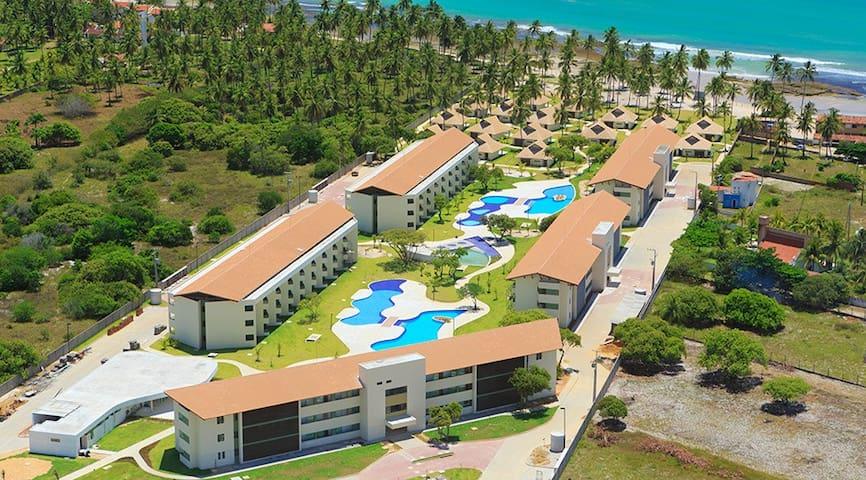 Flat no Condomínio Carneiros Beach Resort