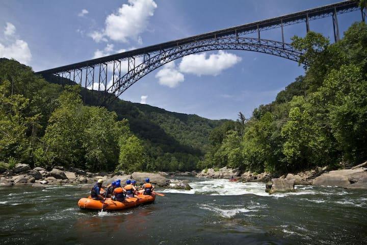 10 min away white water rafting