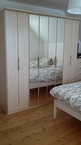 Double Room with two single beds.