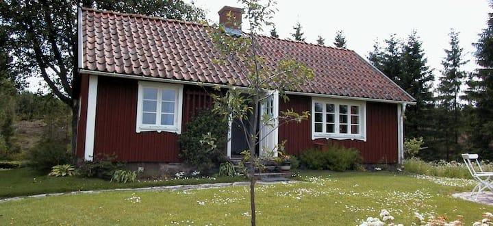 Torpstuga på Billingen, nära Skara och Varnhem