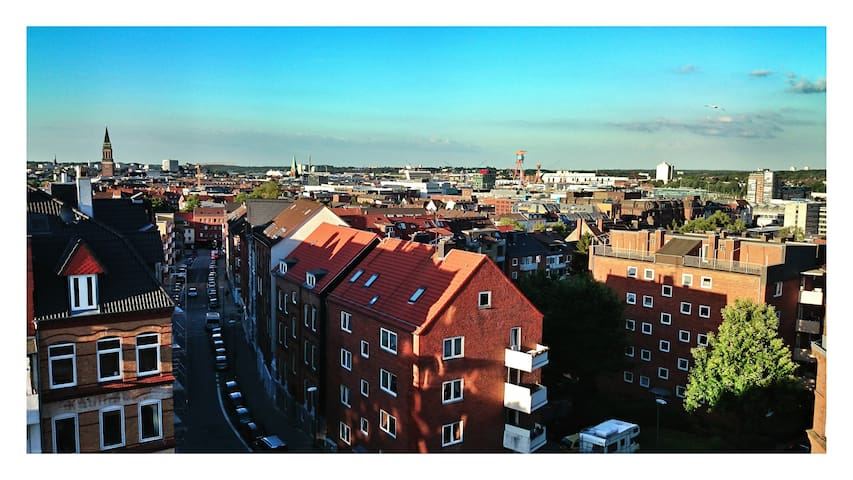 Above the city roofs of Kiel - Kiel