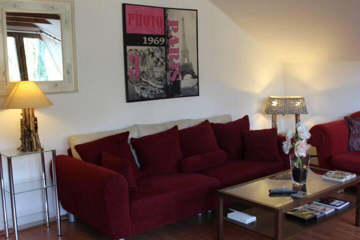 Wohnung mit Wohnzimmer und Schlafzimmer , Küche ,