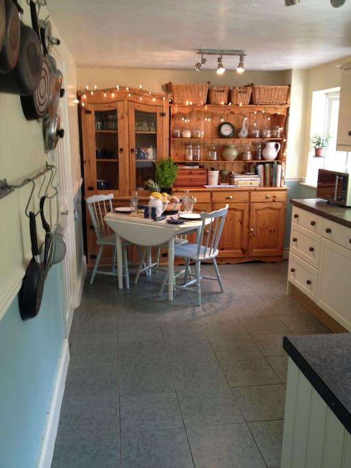 Calming kitchen.